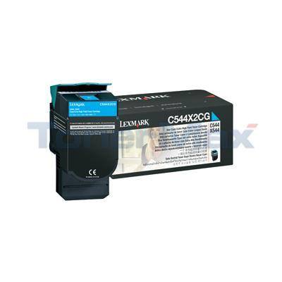 LEXMARK C544 X544 TONER CARTRIDGE CYAN 4K